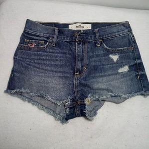 Hollister denim Shorts. Low rise.